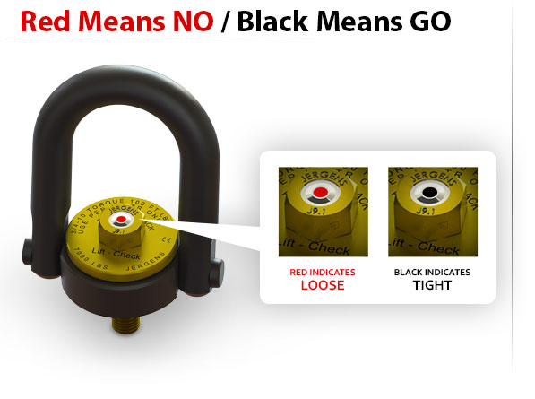 Lift-Check™ - Red means NO, black means GO - Visual indication system